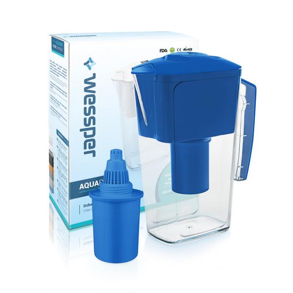Dzbanek filtrujący Wessper AquaPro 2,5 l niebieski, alkaliczny