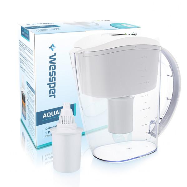 Dzbanek filtrujący Wessper AquaPro 3,5 l biały, alkaliczny
