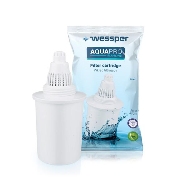Filtry wody AquaPro Alkaline do dzbanka alkalicznego - 4 szt. białe