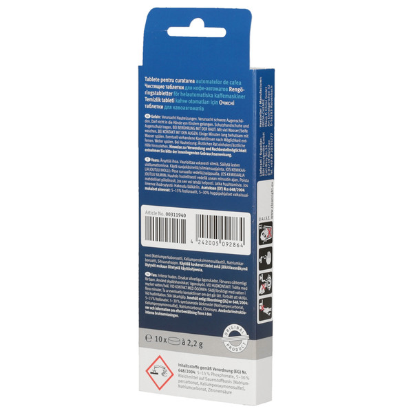 Odkamieniacz w tabletkach do ekspresu do kawy Saeco SUP021YDR (Bosch-Siemens, Zamiennik)