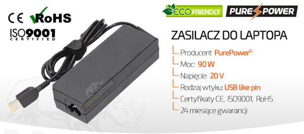 Zasilacz do laptopa Lenovo Ideapad S210 TOUCH (20 V, 4.5 A, 90 W)