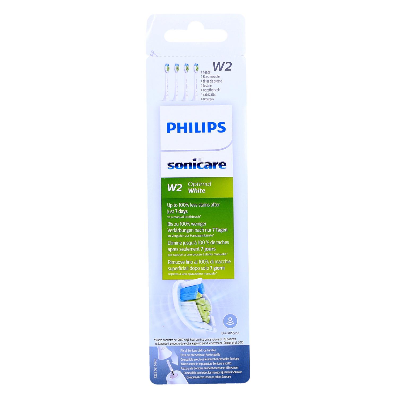 Końcówki Philips Sonicare W2 Optimal White HX6064/11 czarne 4 szt