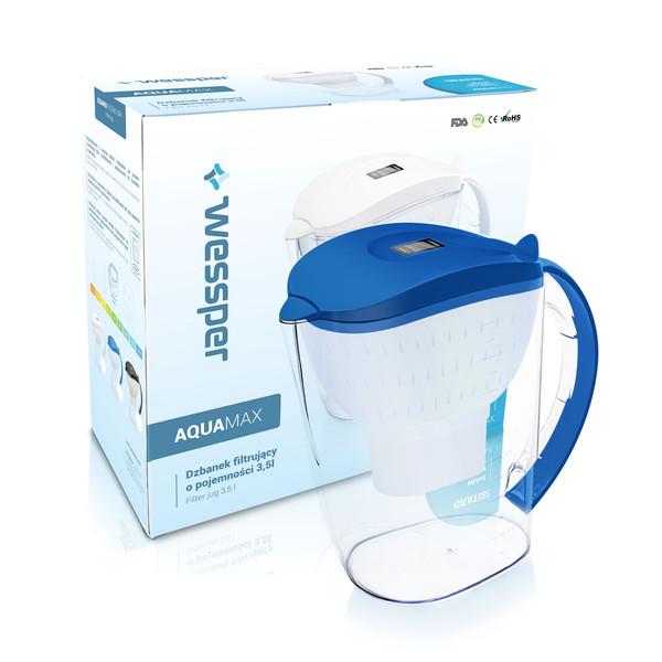 Dzbanek filtrujący Wessper AquaMax 3,5l niebieski + 4 wkłady