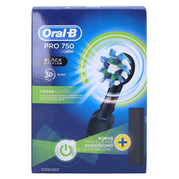 Szczoteczka elektryczna Braun Oral-B Pro 750 Cross Action Black Edition