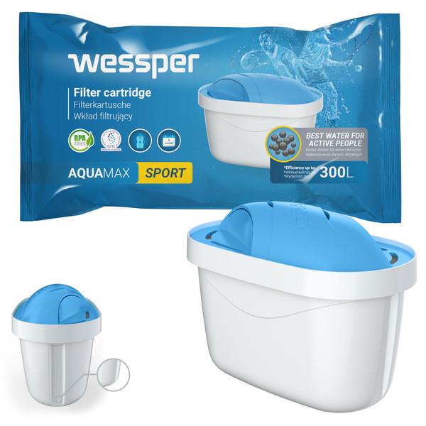 Filtr wody Wessper AquaMax Sport do dzbanków Dafi Brita Zelmer Anna BWT