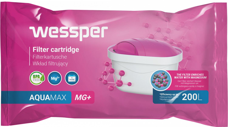 Filtr wody Wessper AquaMax MG+ Magnez do dzbanków Dafi Brita Zelmer Anna BWT