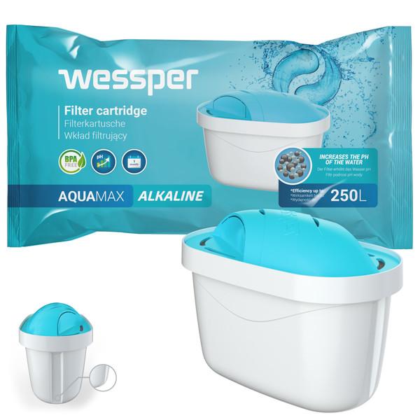 Filtr wody Wessper AquaMax PH+ Alkaline do dzbanków Dafi Brita Zelmer Anna BWT