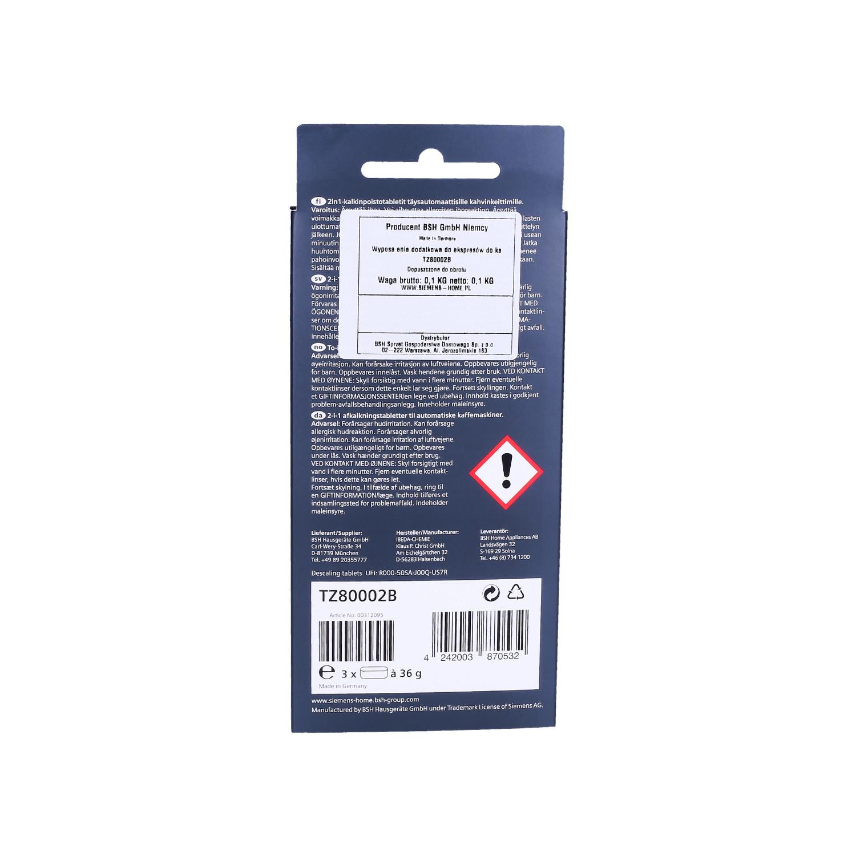 Tabletki odkamieniające Bosch-Siemens TZ80002 2w1