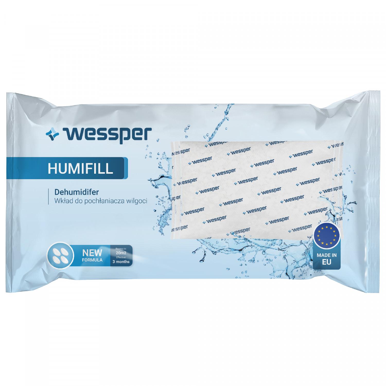 Pochłaniacz wilgoci Wessper HumiFill z wkładem 250g - Biało-niebieski