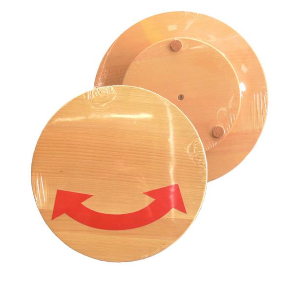 Practic Drewniana deska obrotowa do pizzy-średnica 30cm