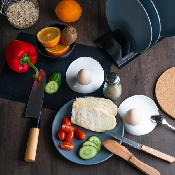 Practic Czarny Stojak na talerze i przykrywki
